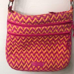 Vera Bradley crossbody purse. Pink and orange.